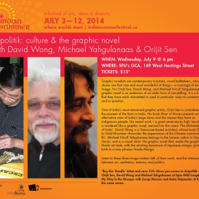 ARTPOLITIK: Culture and the Graphic Novel w/ David Wong, Michael Yahgulanaas and Orijit Sen