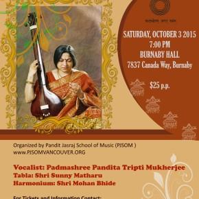 Padmashree Pandita Tripti MukherjeeConcert