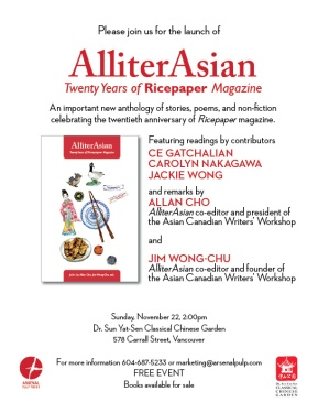 AlliterAsian: Twenty Years of Ricepaper Magazine Anthology Launch