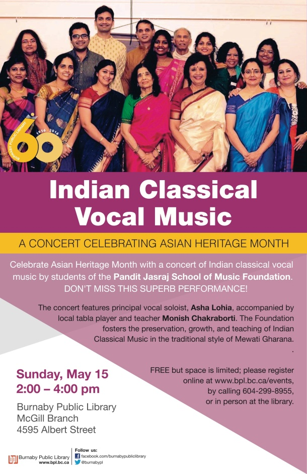 Indian classical vocal music poster
