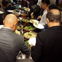 Guests dig in to fabulous food from Fujiya