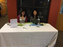 Coordinator Eleanor Munk and Director Patricia Lim at Beer & Wine tickets table