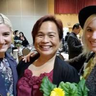 Partner Janine Jurji of the Vancouver Courier with Advisor Esmie Gayo McLaren and Monique (MiMOKO Ceramics)