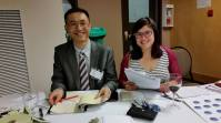 Treasurer John and Coordinator Eleanor at work at the Recognition Gala Reception Table