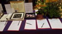 Beautiful prints and plants at Silent Auction