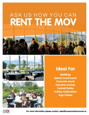 How to Rent the Museum ofVancouver!