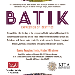 Exhibition: BATIK Expression of Identities
