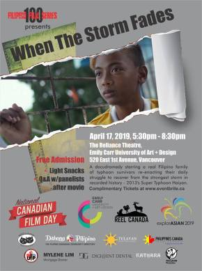 When The Storm Fades, National Canadian FilmDay